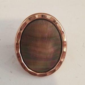 Rainbow shell ring